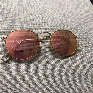 Round Ray Ban 50 mm 3447 Pink Mirror Sunglasses